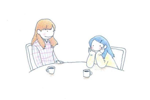 お茶を飲みながらゆっくりお話ししているイメージ画像